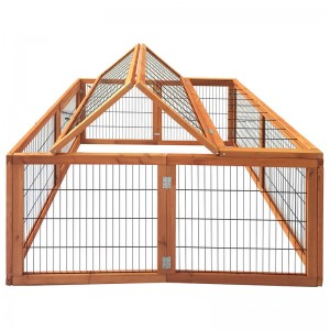 Commercial Farming 2 Level Ware with Outdoor Enclosure Wooden Cage and Wire with Large Free Run Rabbit Cage  EYR014