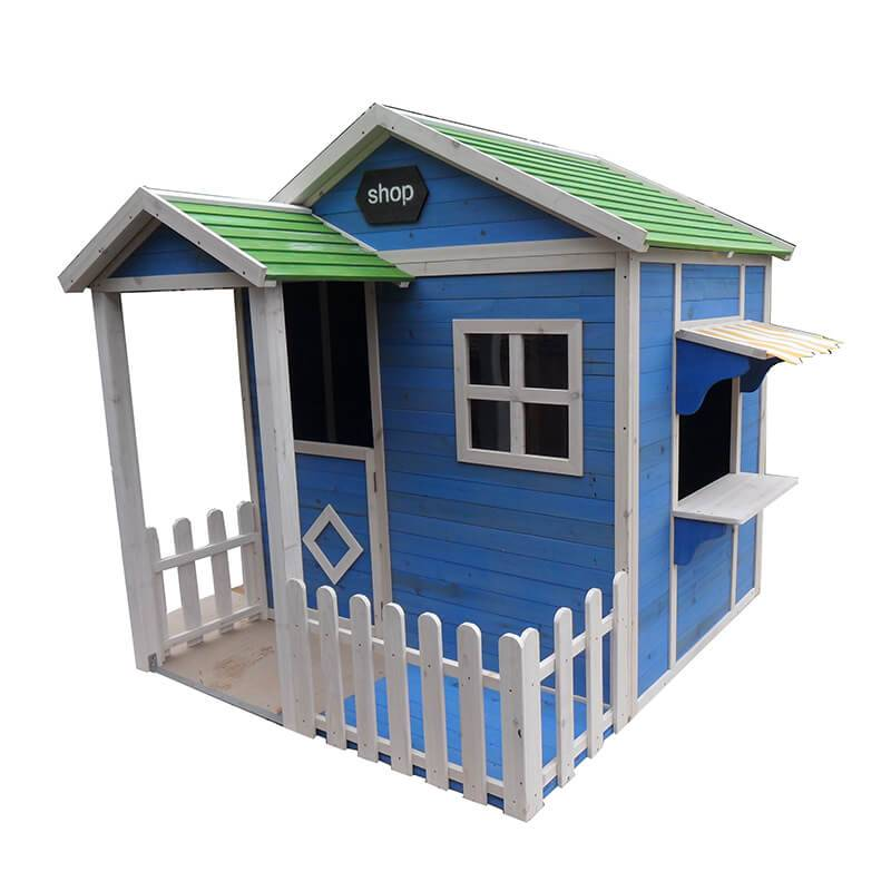Hot DIY garden wood timber playhouses children's toys flat pack play house  EYPH1703 Featured Image