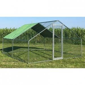 China Flat Pack Big Large Low Price Dependable Floor Protecting chicken run metal EYMR005