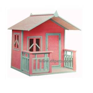 Wholesale prefabricated kids Customized wooden children used outdoor  play house  EYPH016