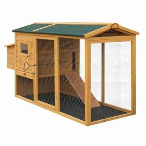 Hot selling Farm Wooden Chicken Coop with large run
