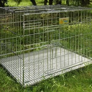 Wholesale popular collapsible storage  stackable wire rabbit cages