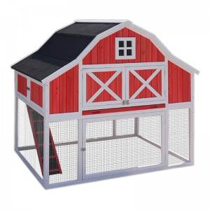 Morden Red Chicken Coop with long run for sale