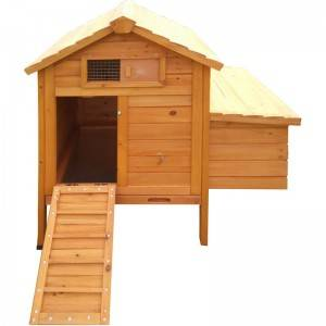 Small  wooden natural color Chicken Coop  witn egg laying