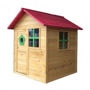 castle Customize personal amusement park Environmental Friendly Paint Wooden Cubby House playhouse EYPH1705
