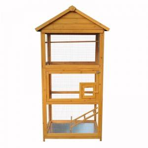 Manufacture outdoor waterproof wooden bird cage for pet house