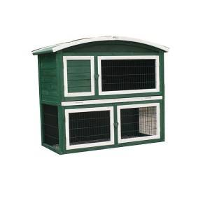 New Style Wooden Bunny custom Hutch Rabbit cage Wholesale  EYR024