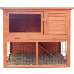 2020 New style medium indoor waterproof durable Wooden bunny house rabbit hutch EYR011