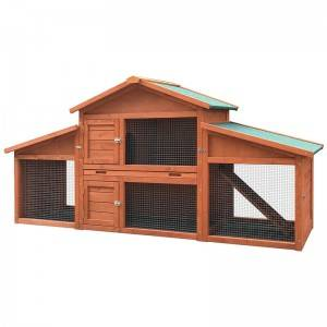 2020 New style tongue and groove waterproof durable Wooden bunny house rabbit hutch EYR010