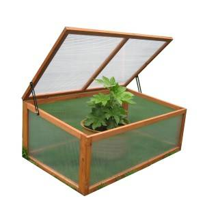 Wood Cold Frame Garden Greenhouse Raised Bed Protective Planter for Vegetable and Flowers, Indoor and Outdoor Vented Plant Cover