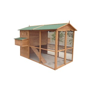 Outdoor Wooden Chicken Coop Nest Box Hen House Poultry Pet Garden Backyard Cage