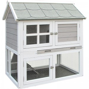 Animal Habitat Indoor Wooden custom  guinea pig cage Rabbit Hutch designs With Large RunEYR017