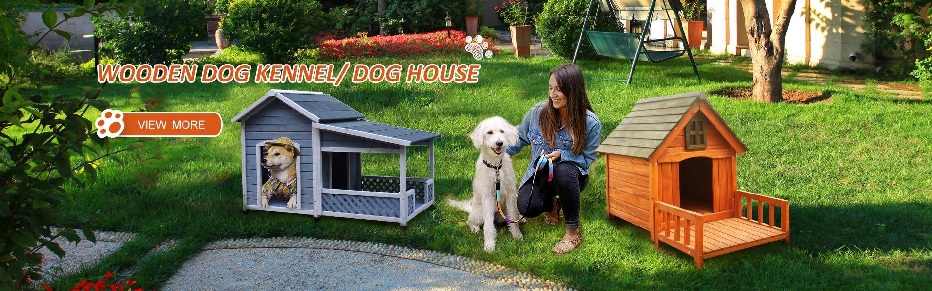 Wooden dog kennel / dog house