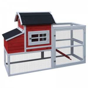 China OEM Rabbit Cage From China - Popular  Chicken Coop Extra Large Hen House with Nest Box – Easy