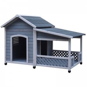 Good Wholesale Vendors Wooden Playhouse - Manufacture luxurious wooden Large dog kennel building  – Easy