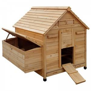 Portable wooden Chicken Coop hen house with nest box