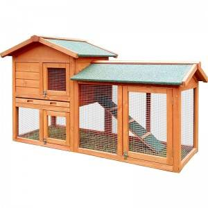 Animal Habitat Indoor Wooden ferplast cottage mini  Rabbit Hutch With Large Run  EYR007