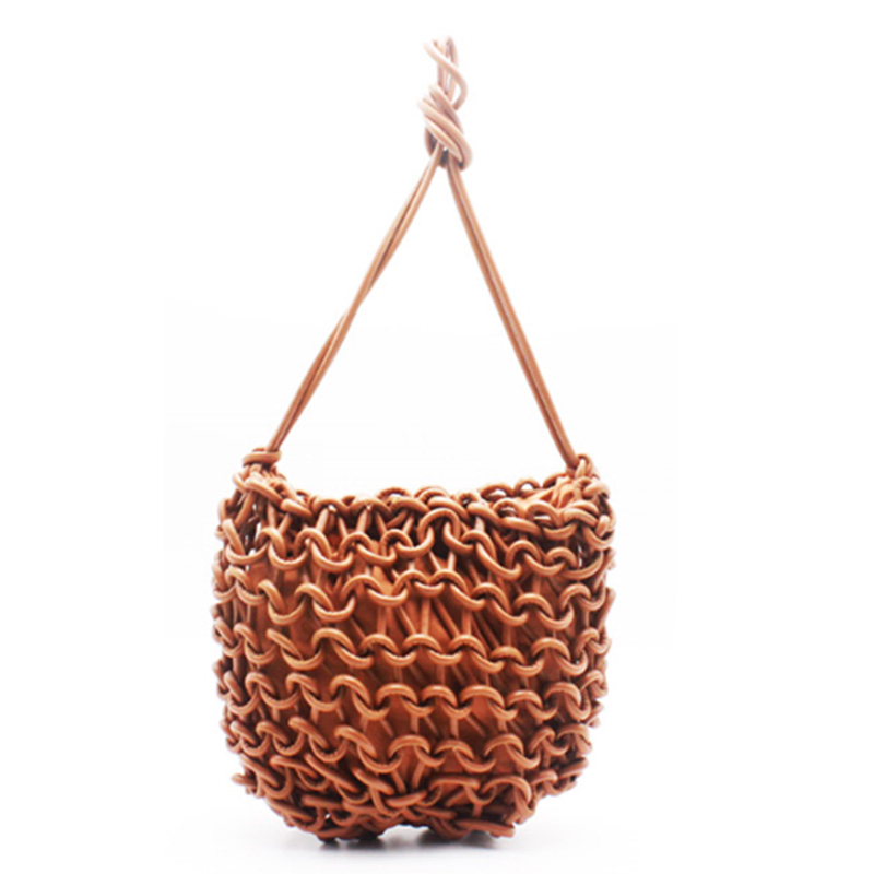 Wholesale Basket Woven Bag - Eccochic Design Exclusive High Quality Pu Cord Woven Shoulder Bag – Eccochic Featured Image