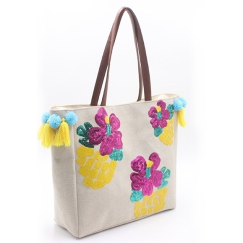 Good quality Leather Tote With Zipper - Eccochic Design Sequins Flower Shoulder Bag – Eccochic