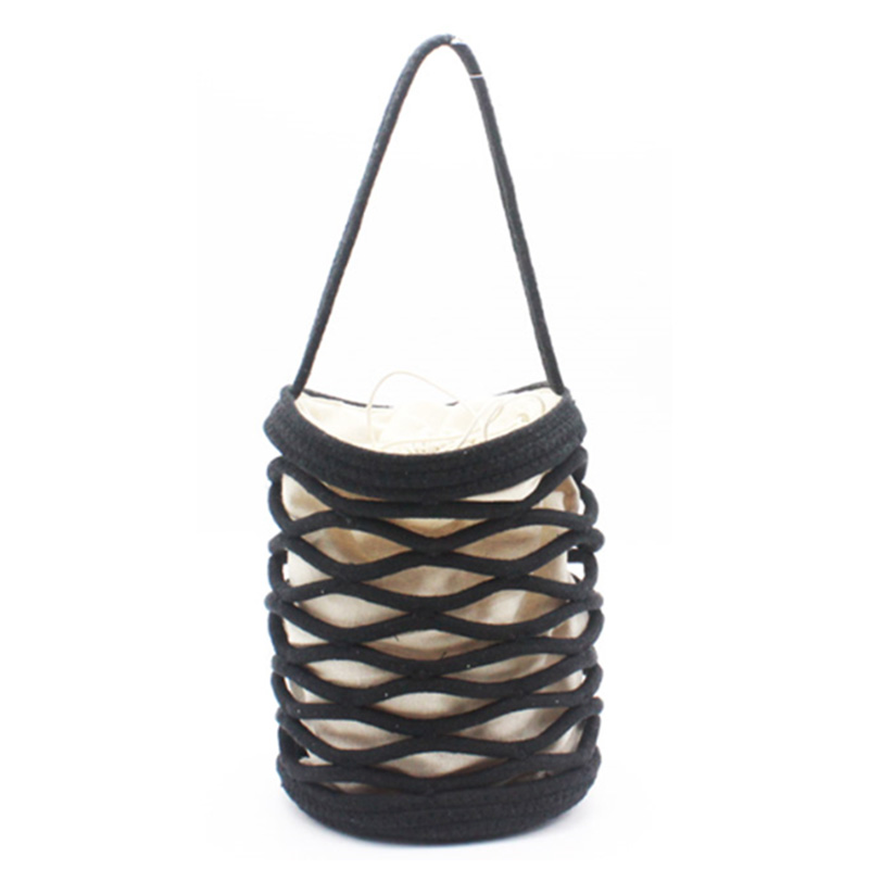 Manufactur standard Brown Leather Handbag - Eccochic Design Hand Made Cotton Rope Bucket Bag – Eccochic