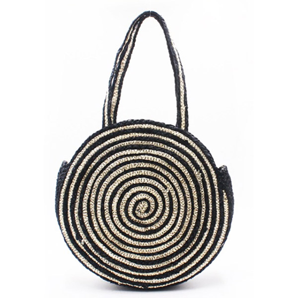 Manufacturer for Large Straw Basket Tote Bag - Eccochic Design Round Straw Bag – Eccochic