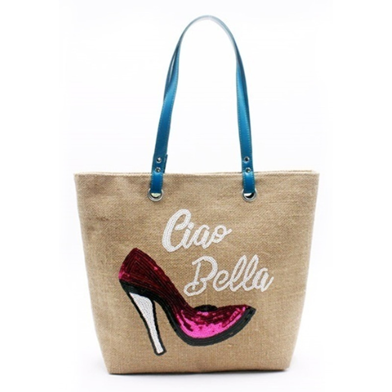 High definition Woven Tote Bag - Eccochic Design Sequins High Heels Ladies Ciao Bella Shoulder Bag – Eccochic