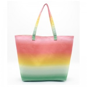 Eccochic Design Canvas Ombre Beach Bag