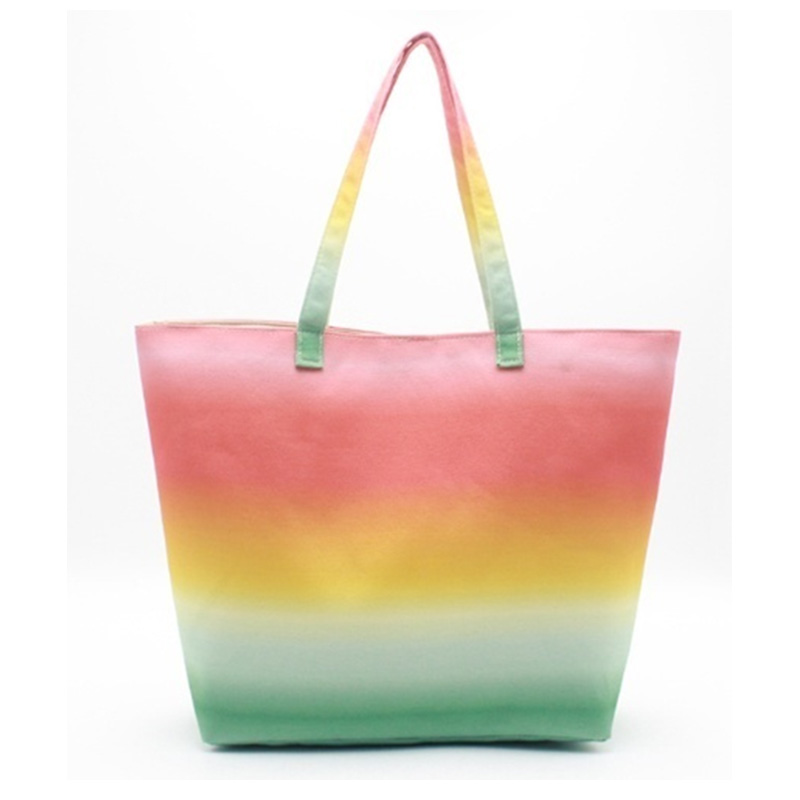 Wholesale Discount Travel Tote Bag - Eccochic Design Canvas Ombre Beach Bag – Eccochic