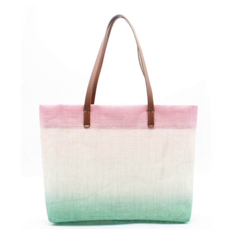 Factory directly supply Bulk Tote Bags - Eccochic Design Ombre Jute Beach Bag – Eccochic