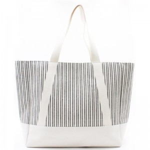 Eccochic Design Large Size Stripes Beach Tote Bag