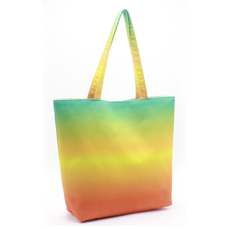 Professional Design Tote Bags For Work - Eccochic Design Canvas Ombre Tote Beach Bag – Eccochic detail pictures