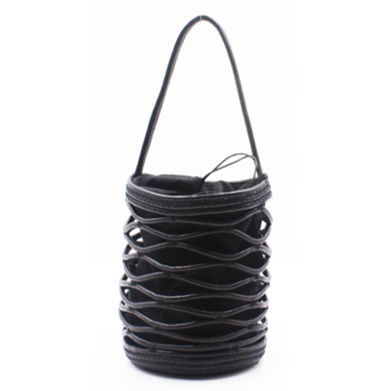 Online Exporter Bucket Sling Bag - Eccochic Design Hand-made Pu Cord Bucket Bag – Eccochic