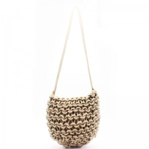 Factory Free sample Black Leather Tote - Eccochic Design Luxre Rope Woven Shoulder Bag – Eccochic