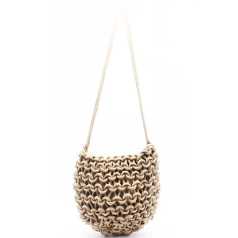 Hot sale Straw Woven Basket Bag - Eccochic Design Luxre Rope Woven Shoulder Bag – Eccochic