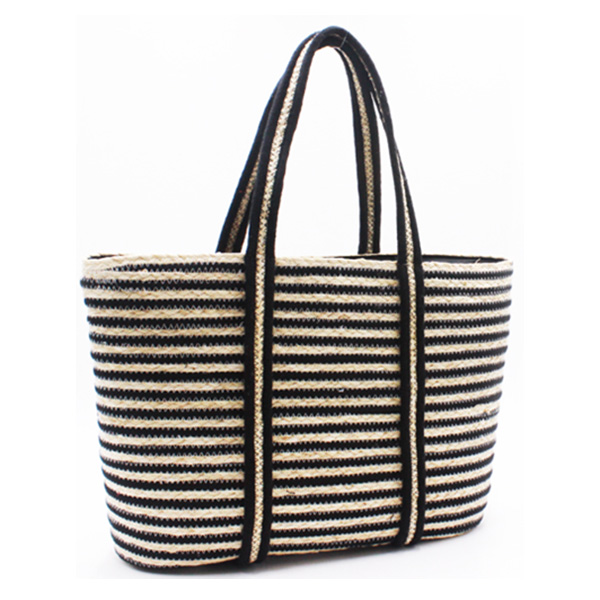 Factory selling Silver Tote Bag - Eccochic Design Striped Straw Basket Bag – Eccochic