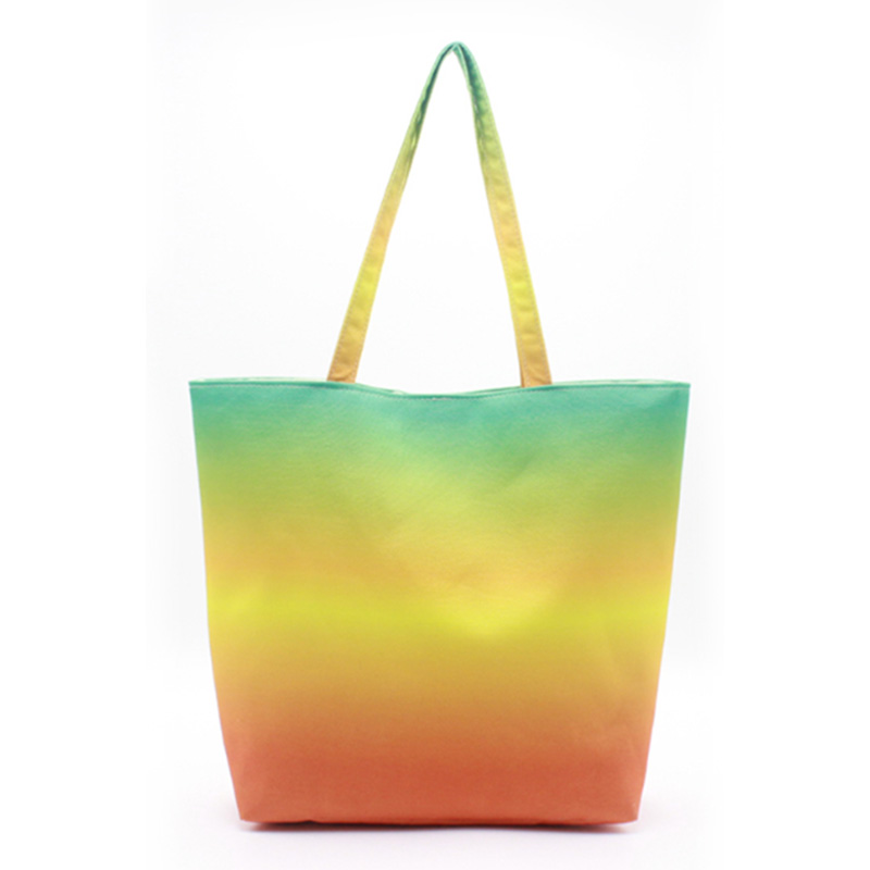 Chinese Professional Beach Bag With Zip - Eccochic Design Canvas Ombre Tote Beach Bag – Eccochic