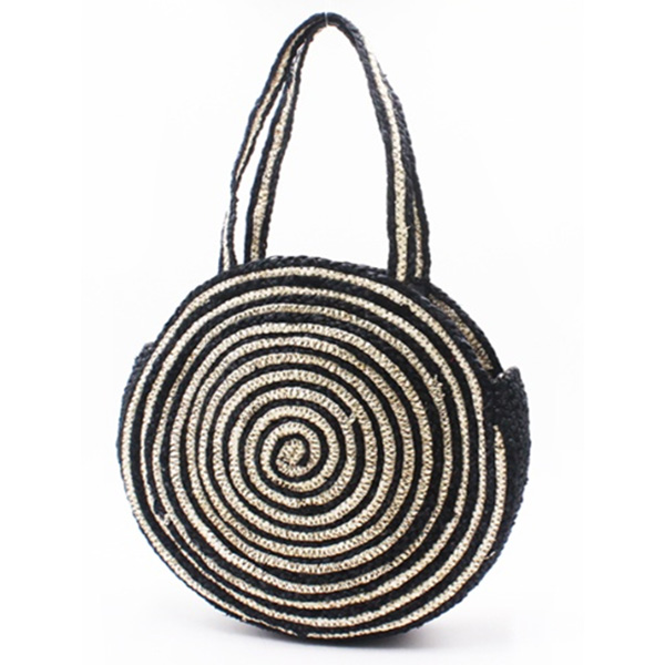 Personlized Products Plain Tote Bag - Eccochic Design Round Straw Bag – Eccochic detail pictures
