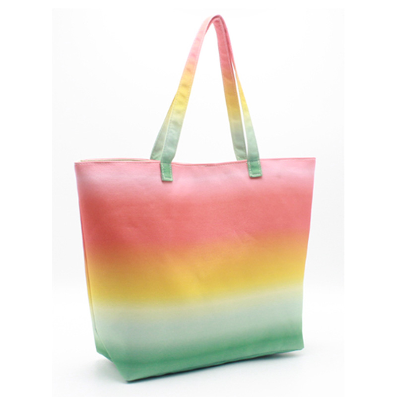 Special Price for Canvas Tote Bag - Eccochic Design Canvas Ombre Beach Bag – Eccochic