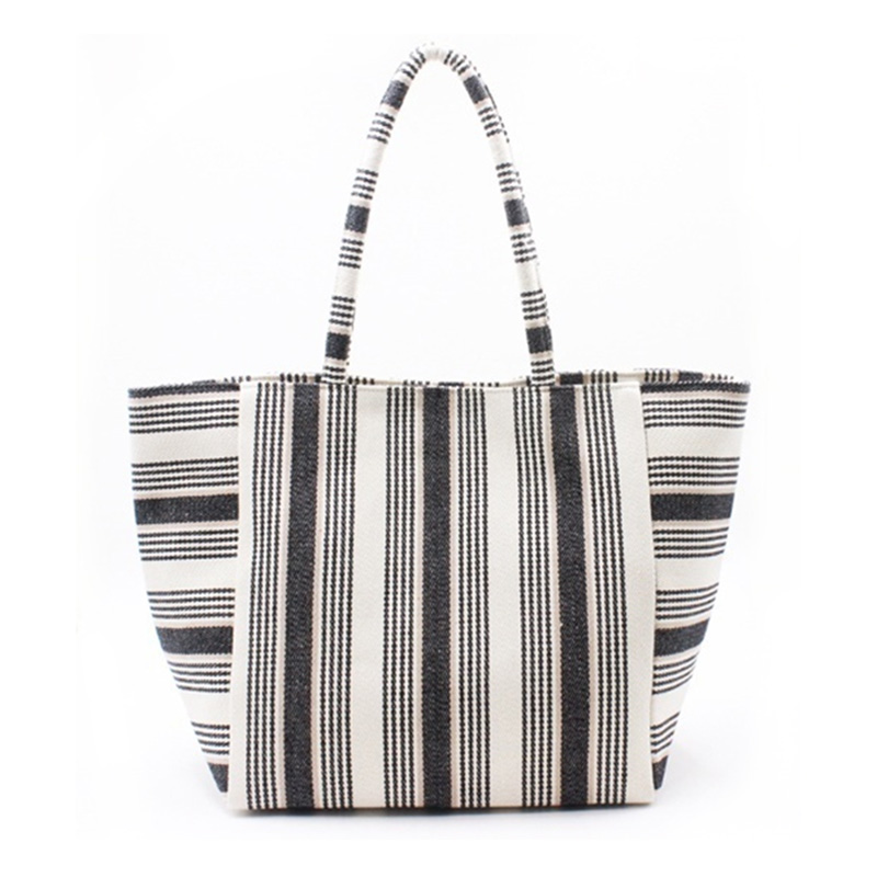 Popular Design for Black Leather Handbag - Eccochic Design Giant Pocket Stripe Tote Baga – Eccochic