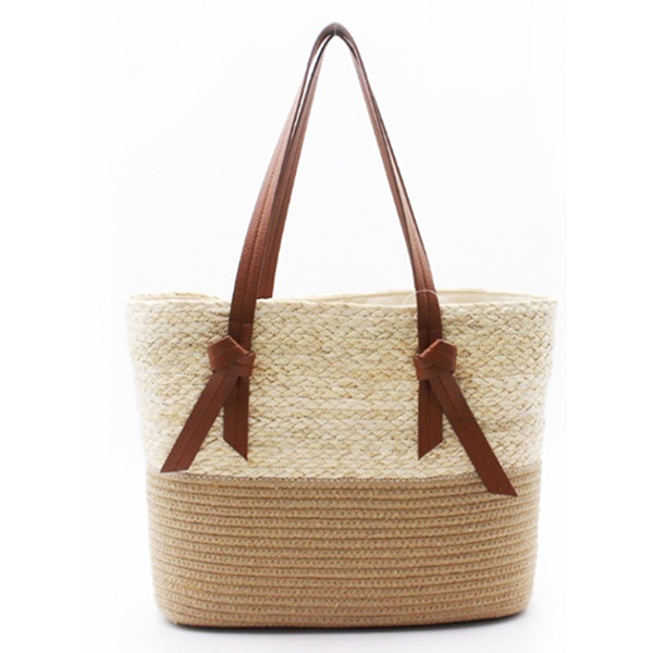 Best-Selling Large Tote Bags For School - Eccochic Design Summer Straw Beach Handbag – Eccochic