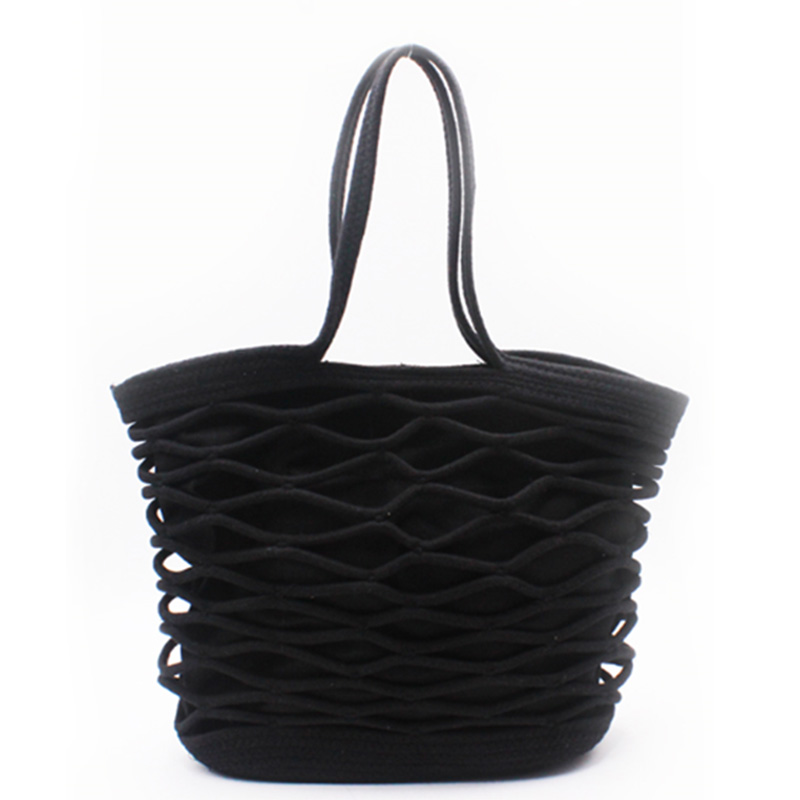 Factory Price Handmade Cotton Cord Bucket Bag - Eccochic Design Hand-made Cord Tote Bag – Eccochic