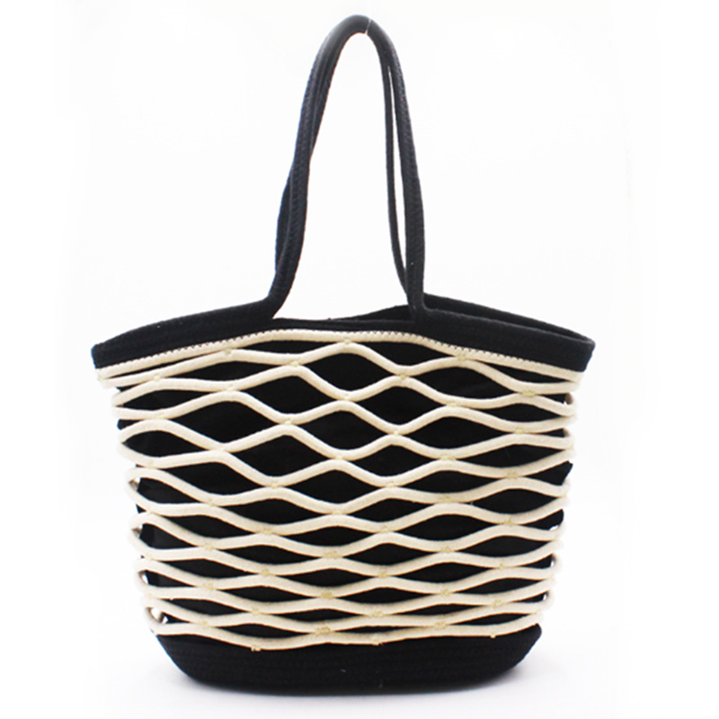 New Fashion Design for Fabric Tote Bag - Eccochic Design Large Size Rope Hand-made Shoulder Bag – Eccochic