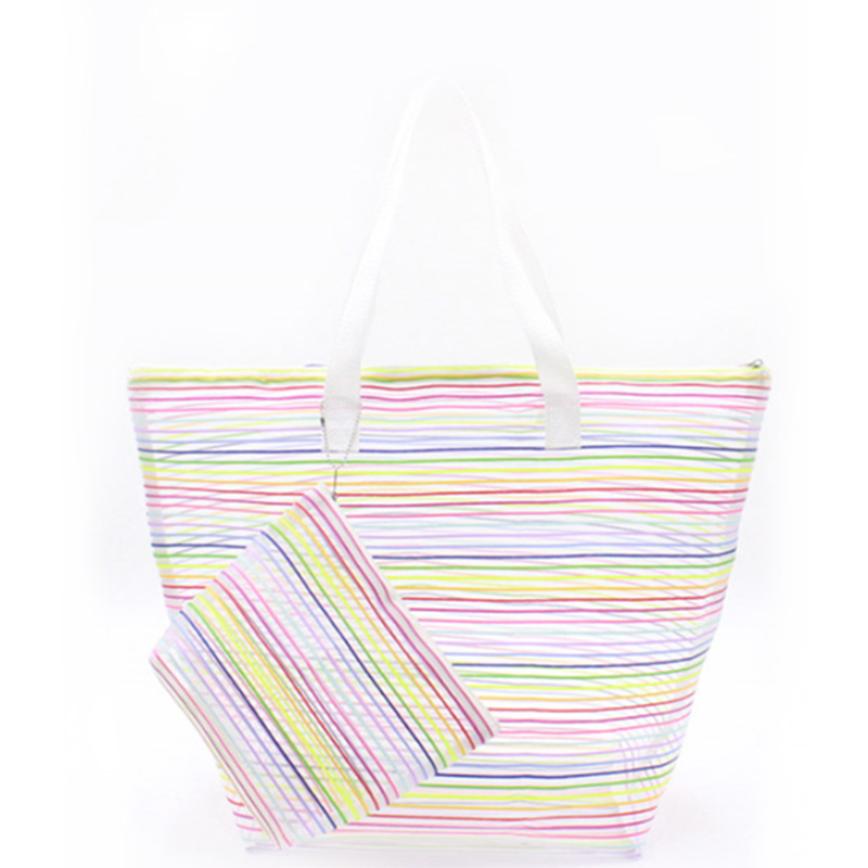 Good quality Black Tote Purse - Eccochic Design Rainbow Mesh Beach Bag – Eccochic