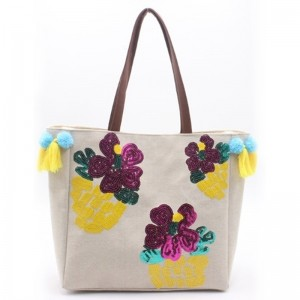 Wholesale Price Tote Bag Organizer - Eccochic Design Sequins Flower Shoulder Bag – Eccochic