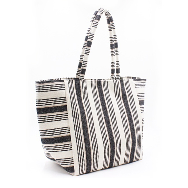 Hot sale Small Canvas Bags - Eccochic Design Giant Pocket Stripe Tote Baga – Eccochic
