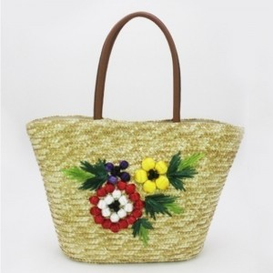 Eccochic Design Summer Fashion 3d Floral Embroidery Shoulder Tote Bag