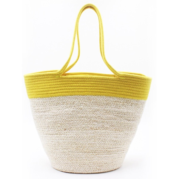 Best quality Straw Basket Bag With Lid - Eccochic Design Oversized Metallic Stripes Beach Bag – Eccochic
