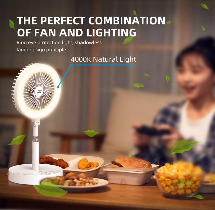 Hot new Fan Lovely Cooler Portable Super Mini Fan with LED Lights Featured Image
