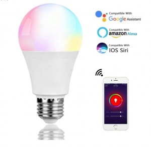 lowest prices 7W Smart LED Light Bulb Wifi 16 Million RGB Color Changing Bluetooth Smart LED Bulb Work with Alexa Google