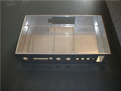 cnc laser cut and nice formed sheet metal enclosure box cabinet fabrication according to sample drawing